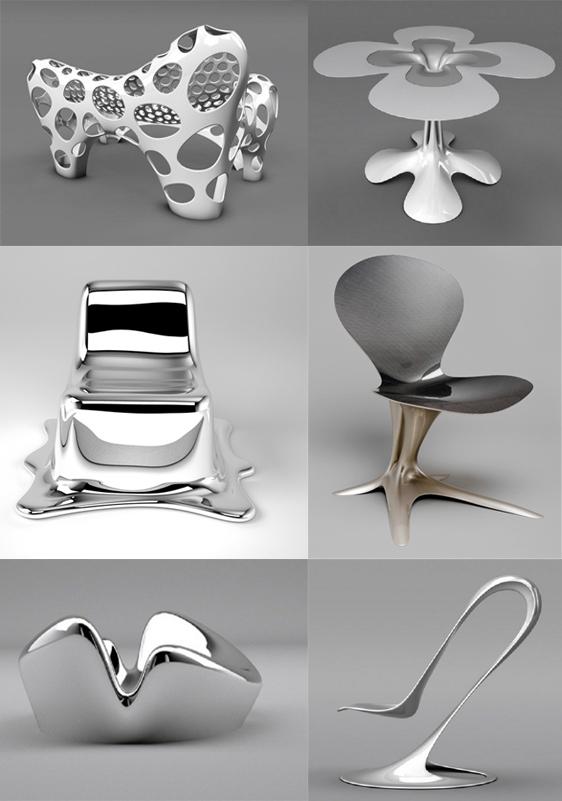 wonderful futuristic metal furniture design | Philipp Aduatz'sUltra Futuristic Furniture - KMP Furniture ...