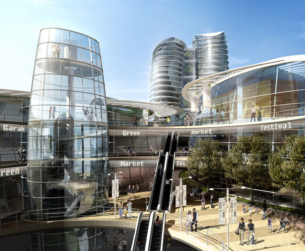 Korean firm samoo enlivens world s streetscapes kmp for Modern retail building design