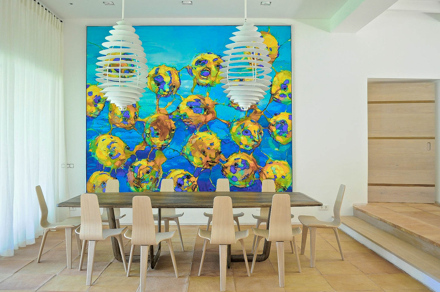 Louise Holt Mallorca dining room