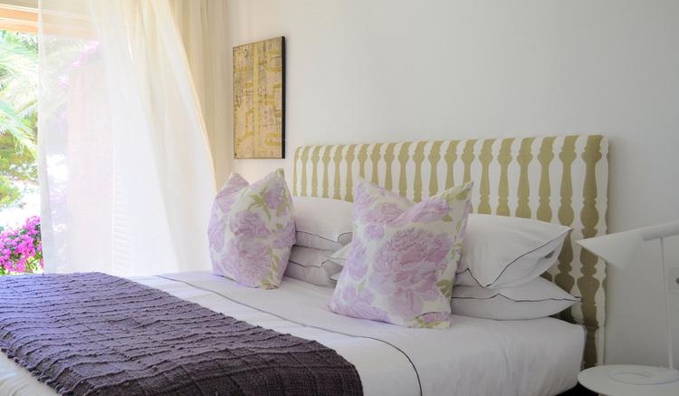 Louise Holt Mallorca purple bedroom
