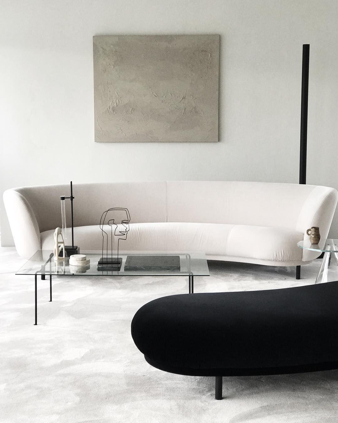 Balancing act - sculptural sofa