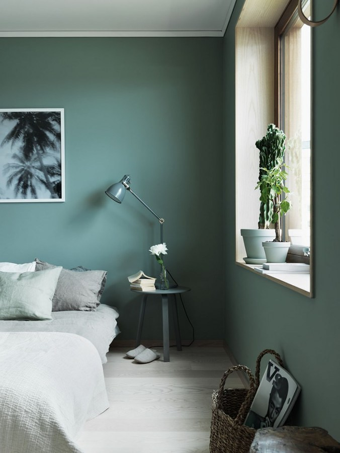 Celadone Green Modern Bedroom